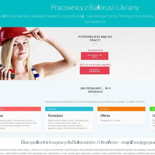 Fizyczny pracownik z Białorusi