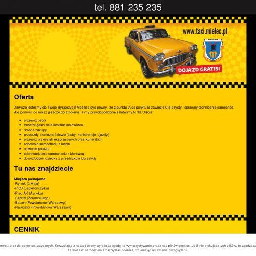 Taksówka w Mielcu