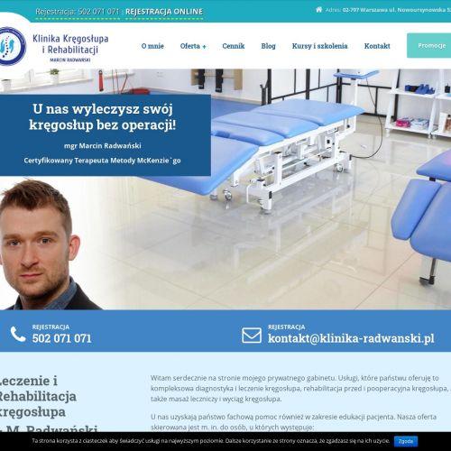 Leczenie kręgosłupa w Warszawie