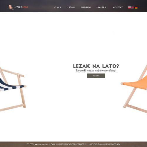 Leżaki reklamowe z logo