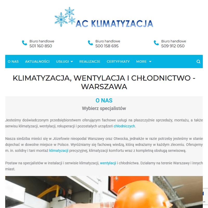 Instalacja klimatyzacji - Warszawa