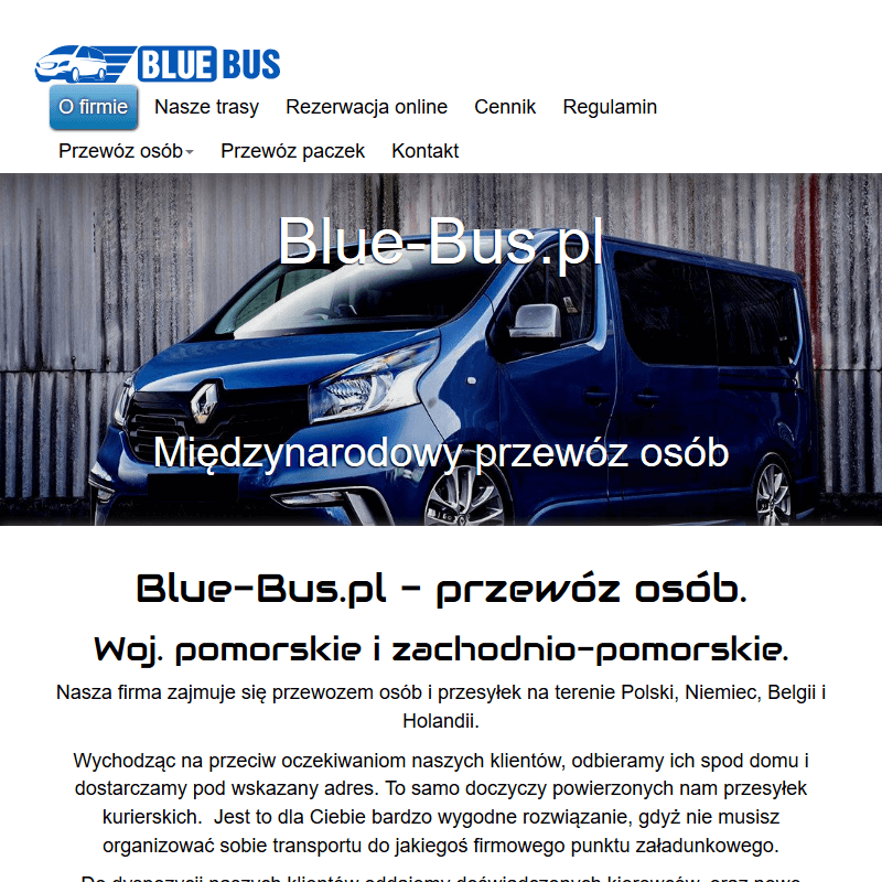 Komfortowy przewóz osób do Belgii