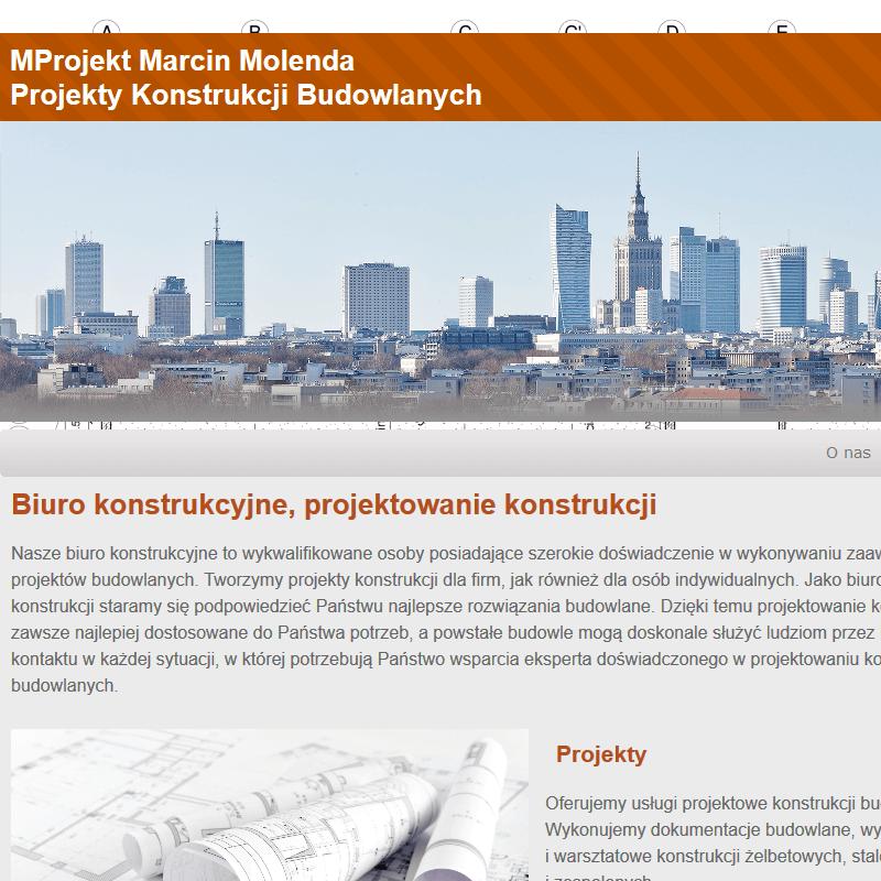 Projekty konstrukcji budowlanych - Warszawa