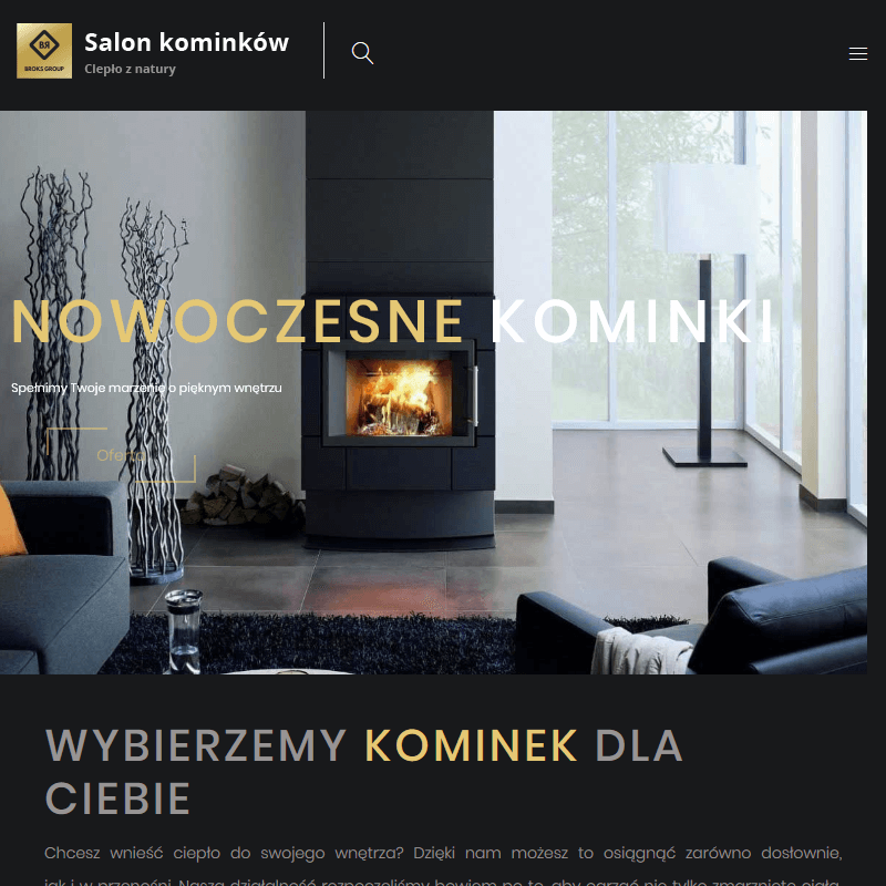 Kominki narożne - Legnica