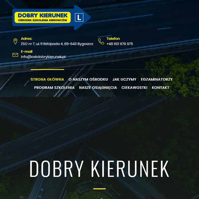 Ośrodek szkolenia kierowców w Bydgoszczy